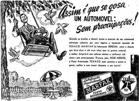 Propaganda do Lubrificante Texaco veiculada nos anos 40.
