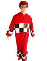 kostum profesi pembalap untuk anak