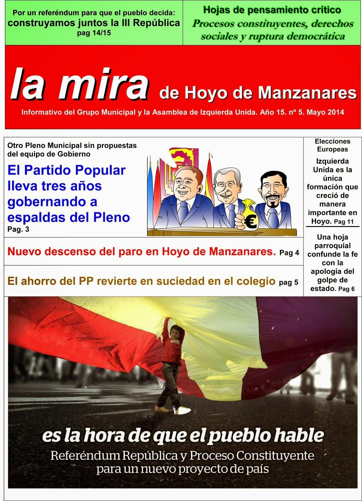 La mira de Hoyo de Hoyo de Manzanares. Mayo 2014