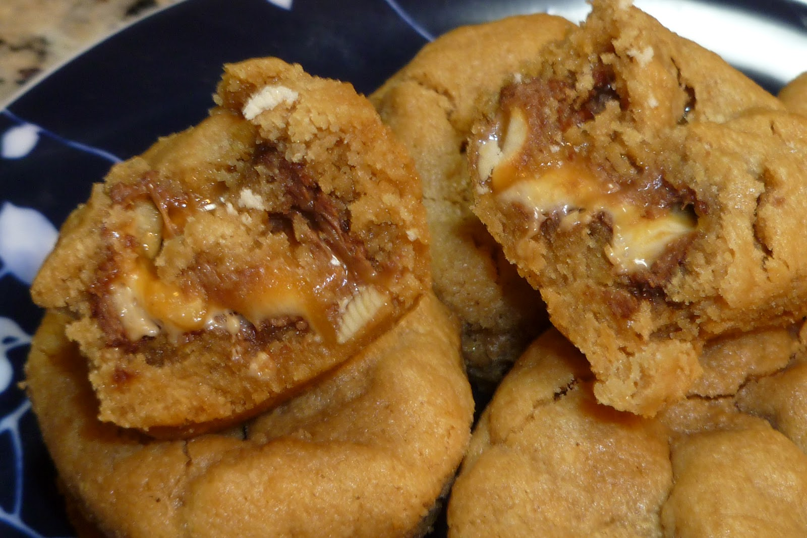 The Pastry Chef's Baking: Snickers-stuffed Peanut Butter Cookies