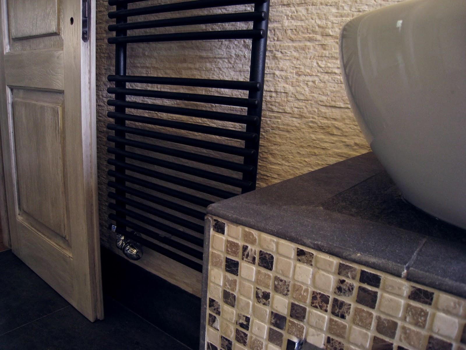 Mobiletto lavabo integrato per bagno da terra - Piano lavandino bagno ...