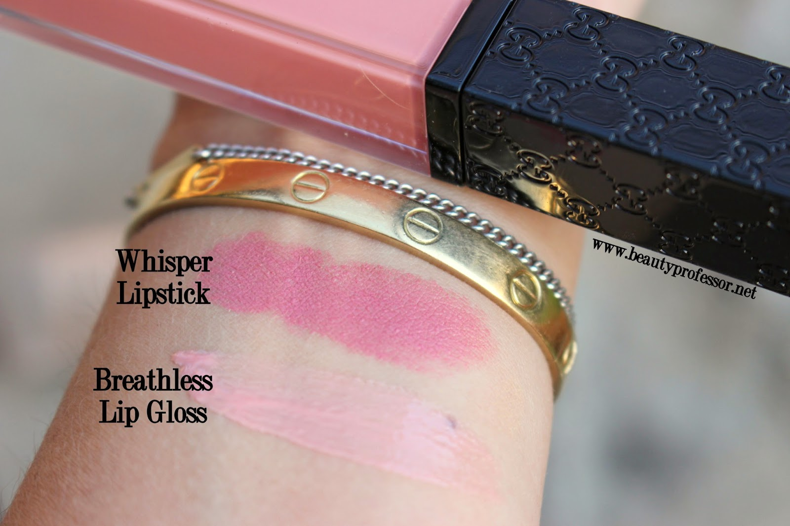 gucci lip gloss swatches breathless