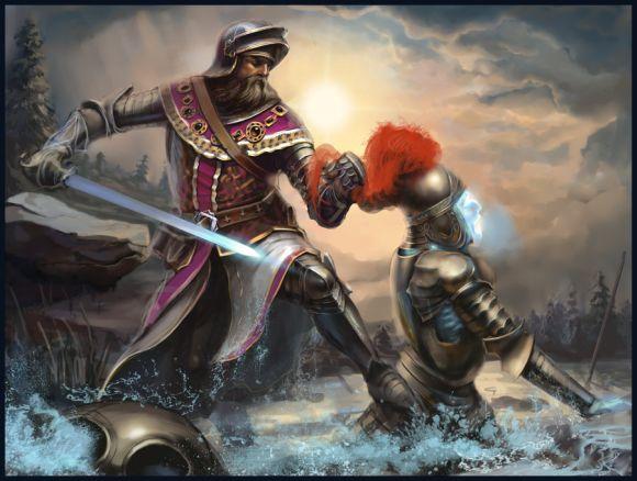 Pavel Romanov cynic-pavel deviantart ilustrações fantasia Luta de cavaleiros