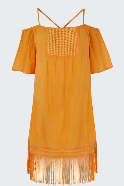 orange gypsy dress, yellow gypsy dress,
