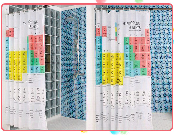 Hobby Center: Periodic Table of the Elements Shower Curtain from ...