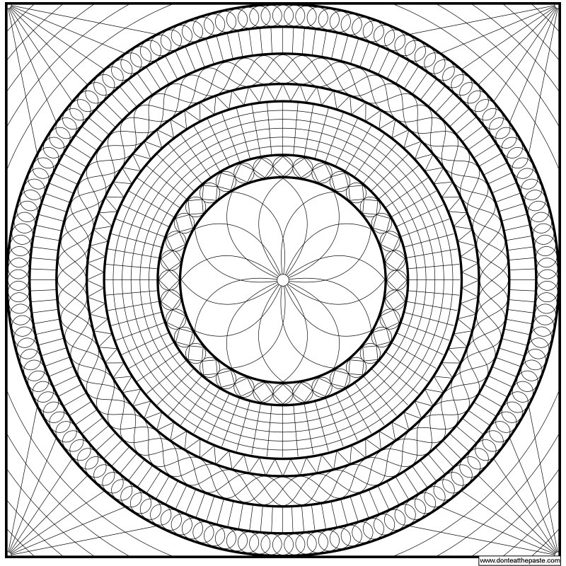 Geometric owl coloring pages geometric mandala to print and