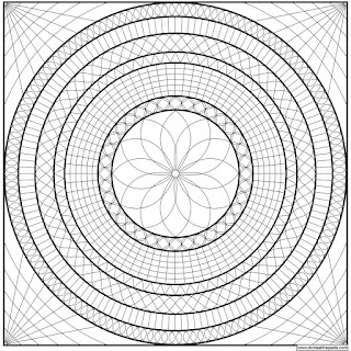 Geometric mandala to print and color- jpg