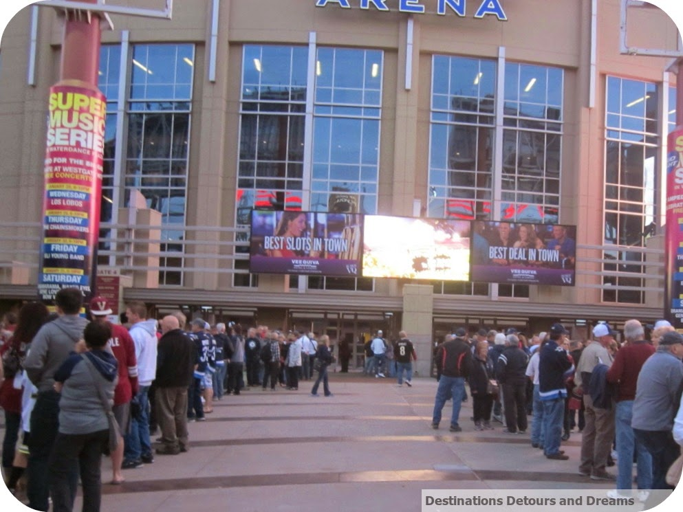 line up at Gila River Arena