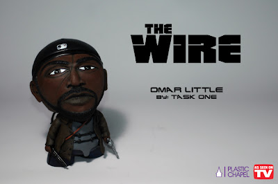 """As Seen On TV"" Solo Custom Art Show by Task One - The Wire Omar Little Custom Munny Vinyl Figure"