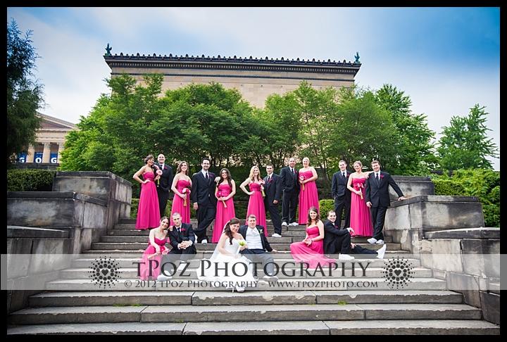 Wedding Bridal Party Philadelphia Art Museum