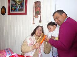 Cumpleaños junto a nieta Yanka e hijo Luis
