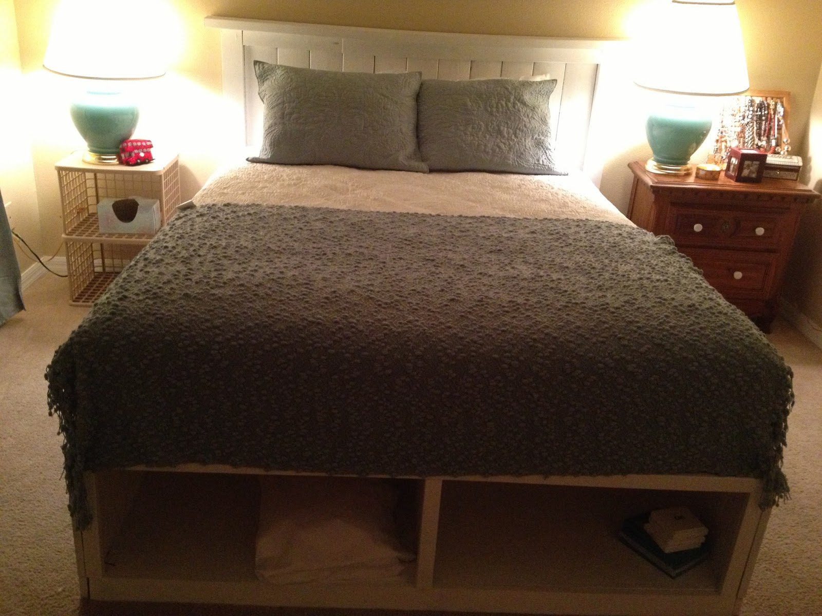 This Headboard For My Storage Bed Was Made From A Pallet And Some Stud  Scraps That I Scavenged From A Trash Pile On A Construction Site.