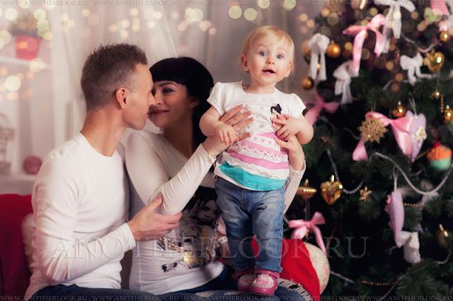 новогодняя фотосесссия семьи