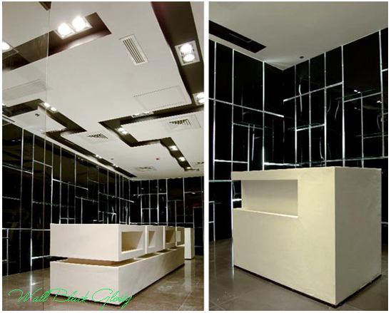Interior design wall black glossy home design for Black wall interior