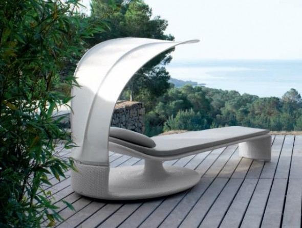 Muebles de jardín con un diseño futurista ...