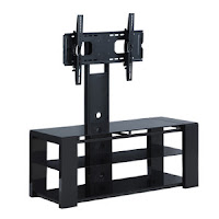 Walker Edison 48 in. Cayenne TV Stand w/ Removable Mount - Black