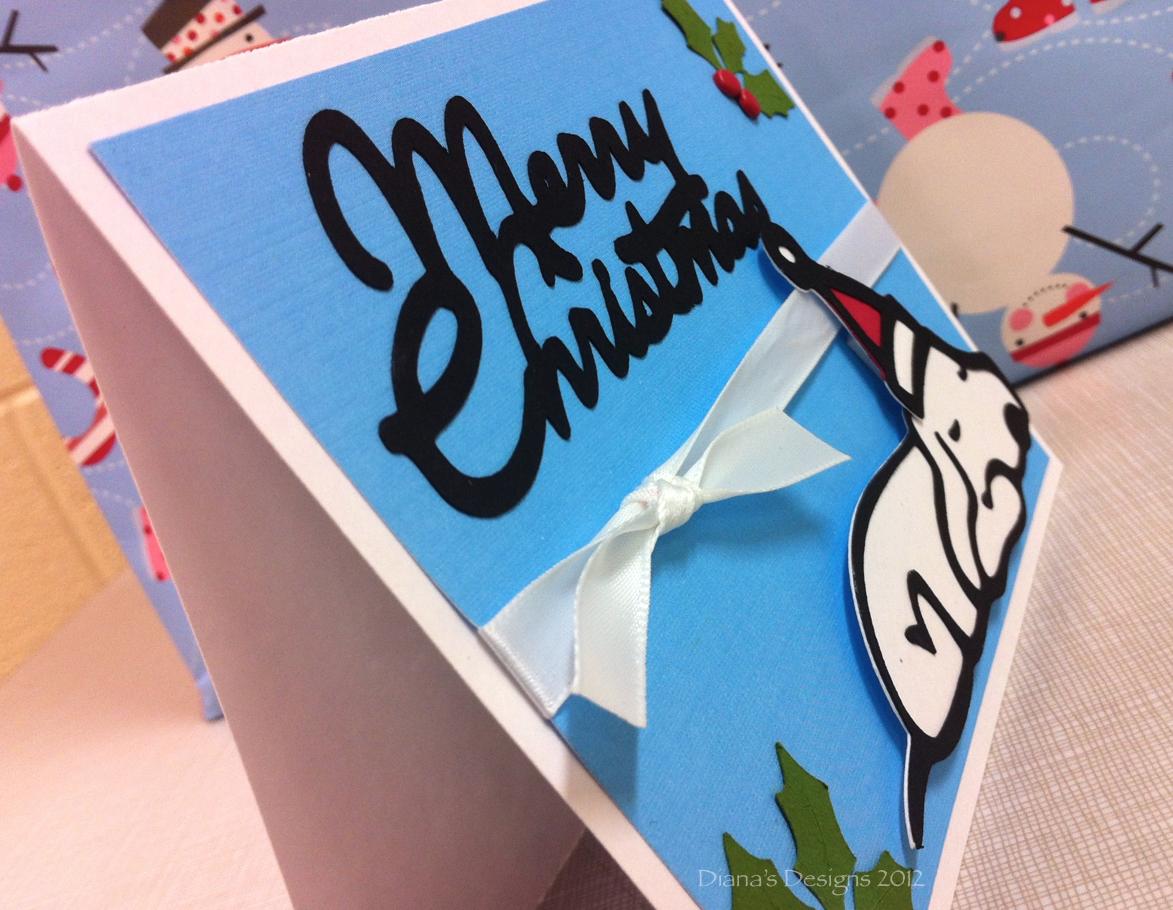 Cricut Paper Pups Handmade Christmas Cards