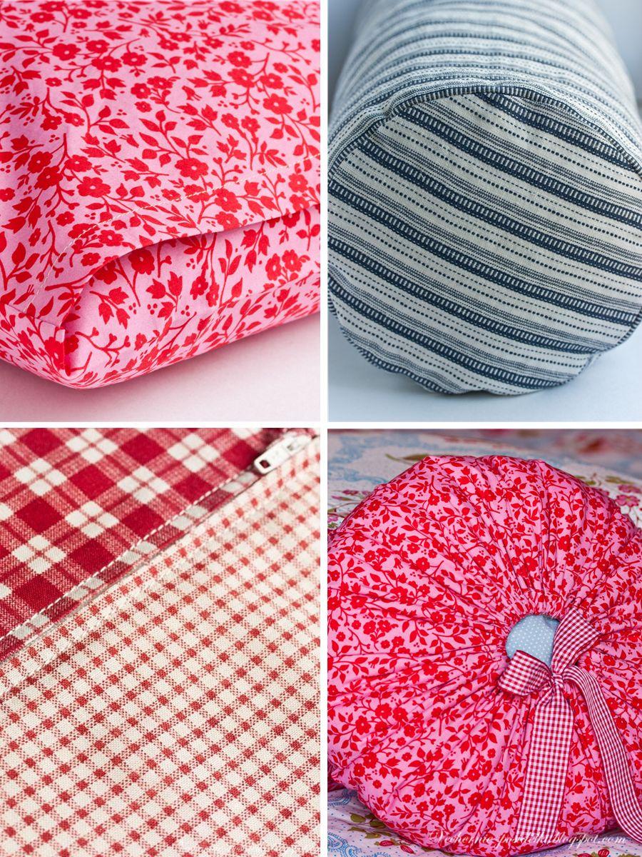 Как сшить подушку валик своими руками? Выкройки для разных 2