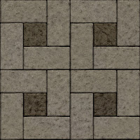 Seamless patio tiles texture