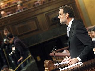 Mariano Rajoy durante su discurso de investidura como presidente