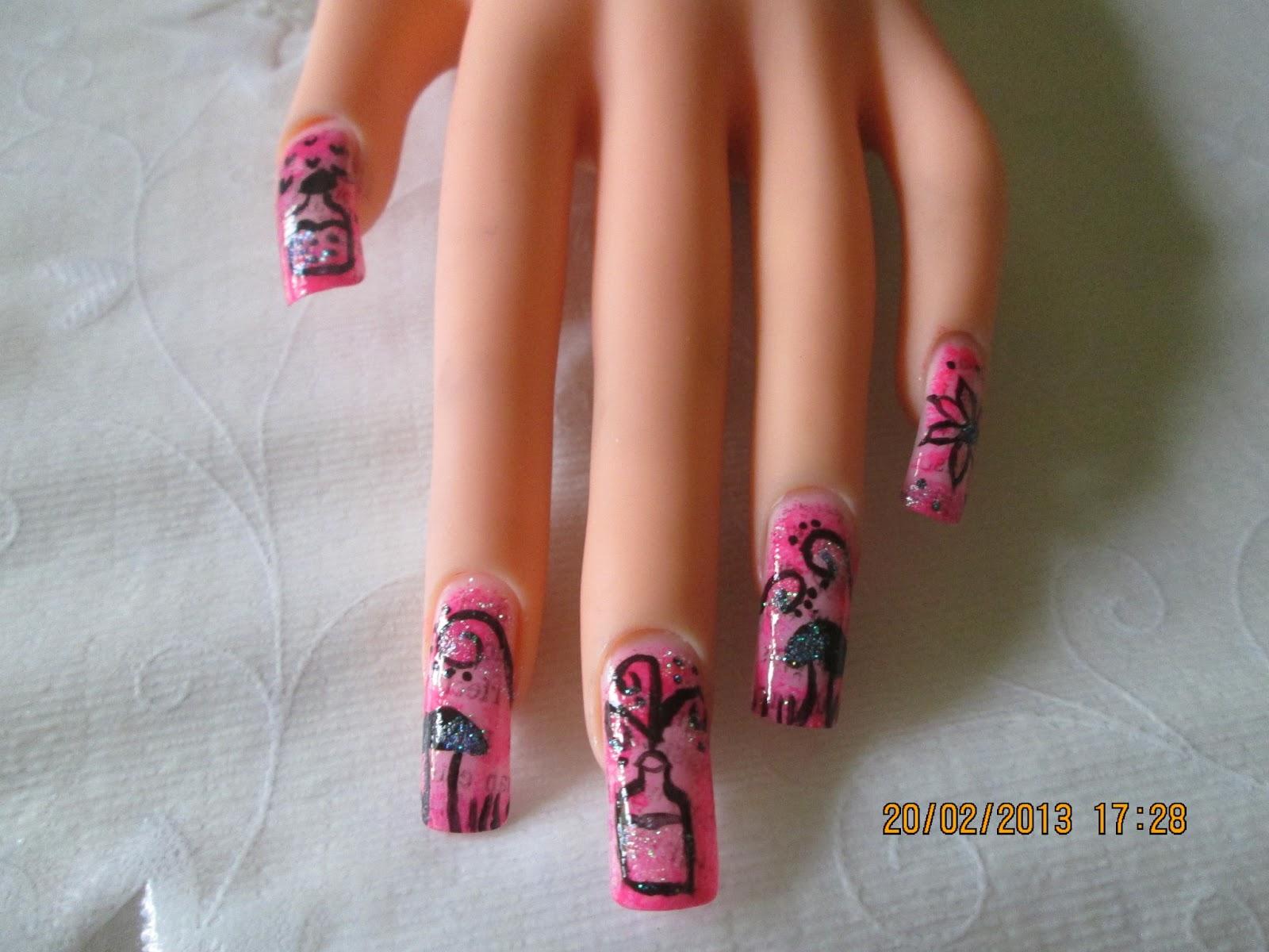 Strawberrysweet Madilens Nail Art Newspaper Manicure