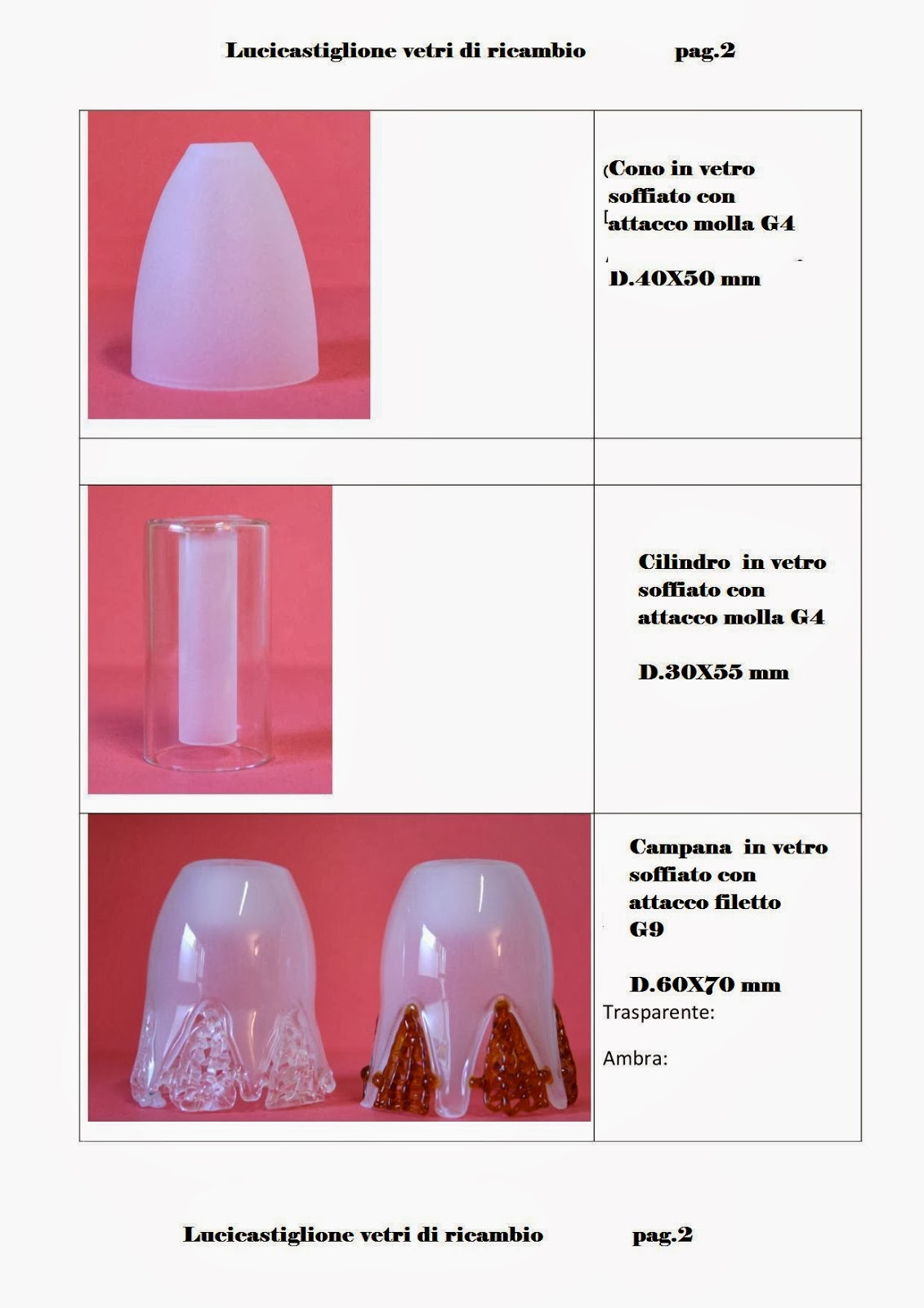 ricambi per lampadari : Ricambi per lampadari in vetro di Murano: Catalogo ricambi in vetro ...
