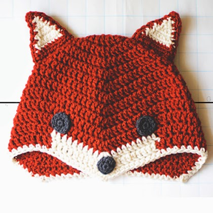 Free Crochet Fox Cowl Hat Pattern : Crochet For Children: Fox Hat... Free Crochet Pattern