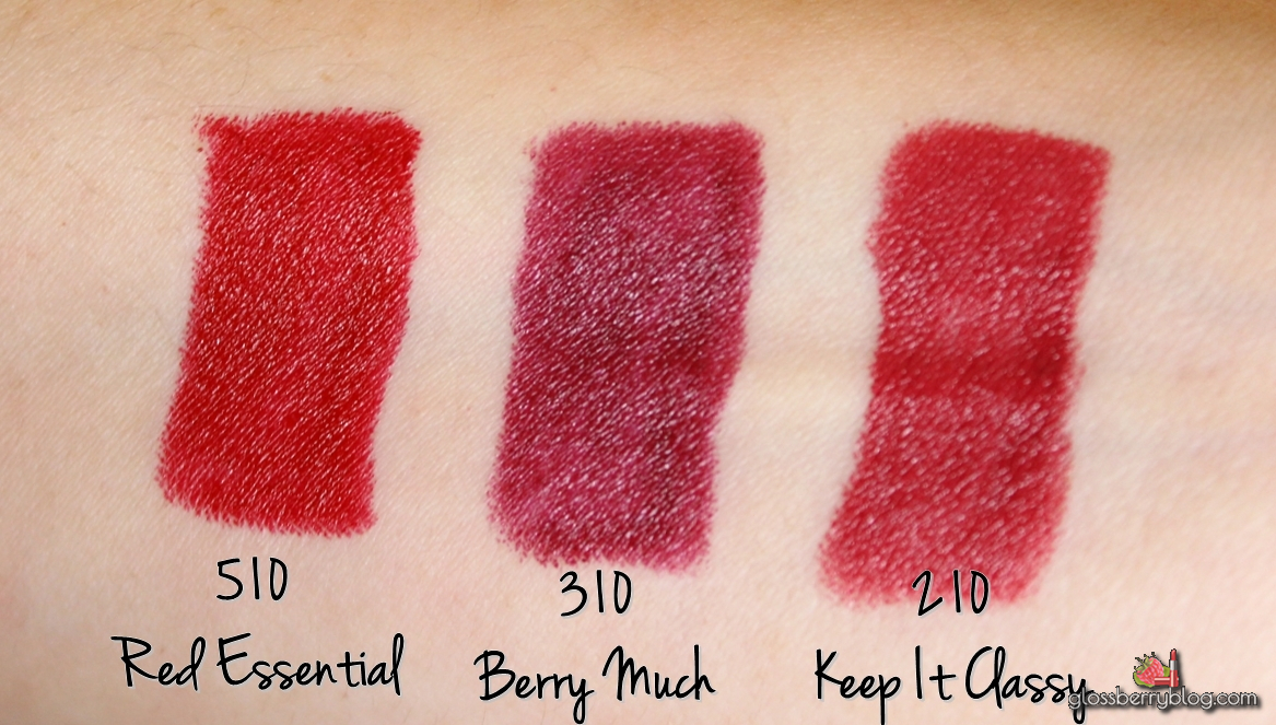 Maybelline Color Drama Velvet Lip Pencil keep in classy berry much red essential swatches review lipstick lipcolor lipcolour עפרונות שפתיים צ'אבי שפתונים מייבילין גלוסברי בלוג איפור וטיפוח 210 310 510