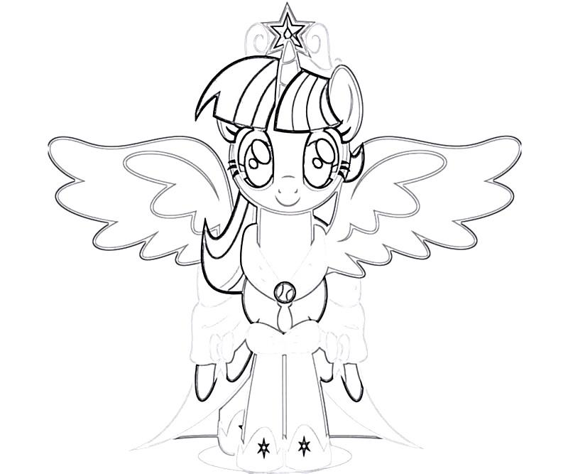 #27 Twilight Sparkle Coloring Page