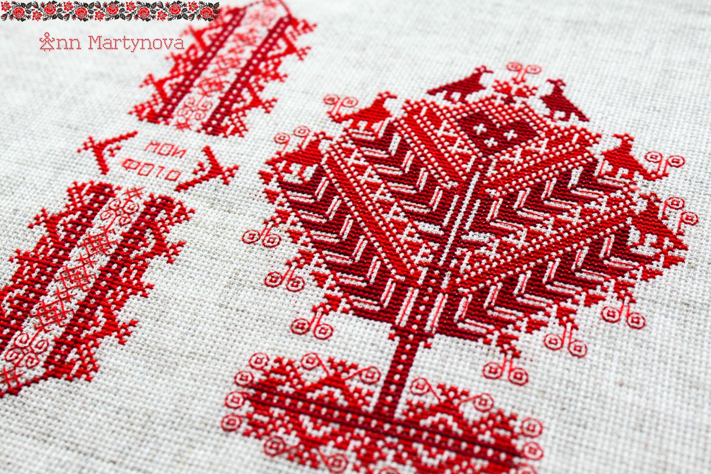 Символ дерево в вышивке