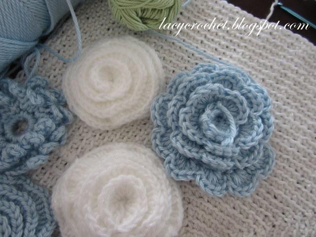 Lacy Crochet Project In Progress Flower Cushion
