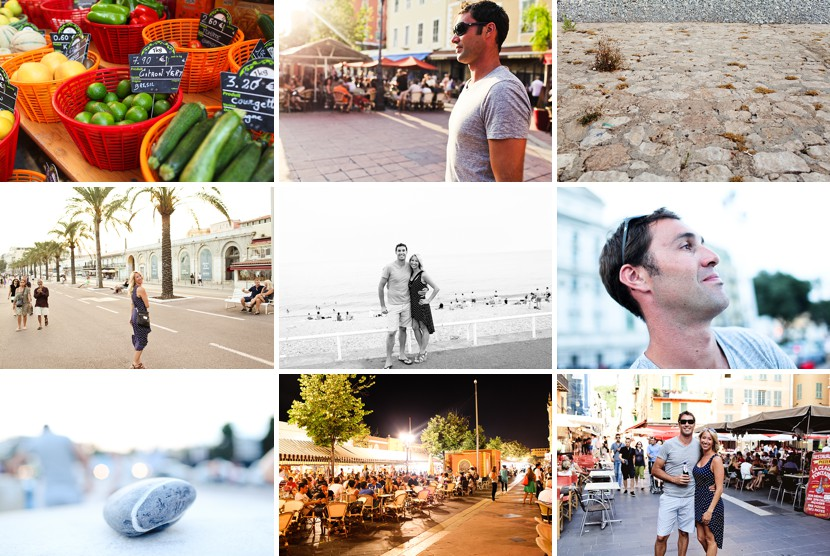 collage of nice france photo