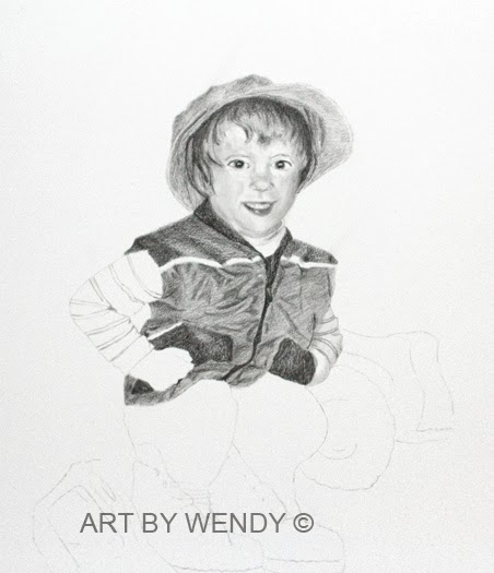 Daddy's Boots WIP by Art by Wendy - Wendy Mould