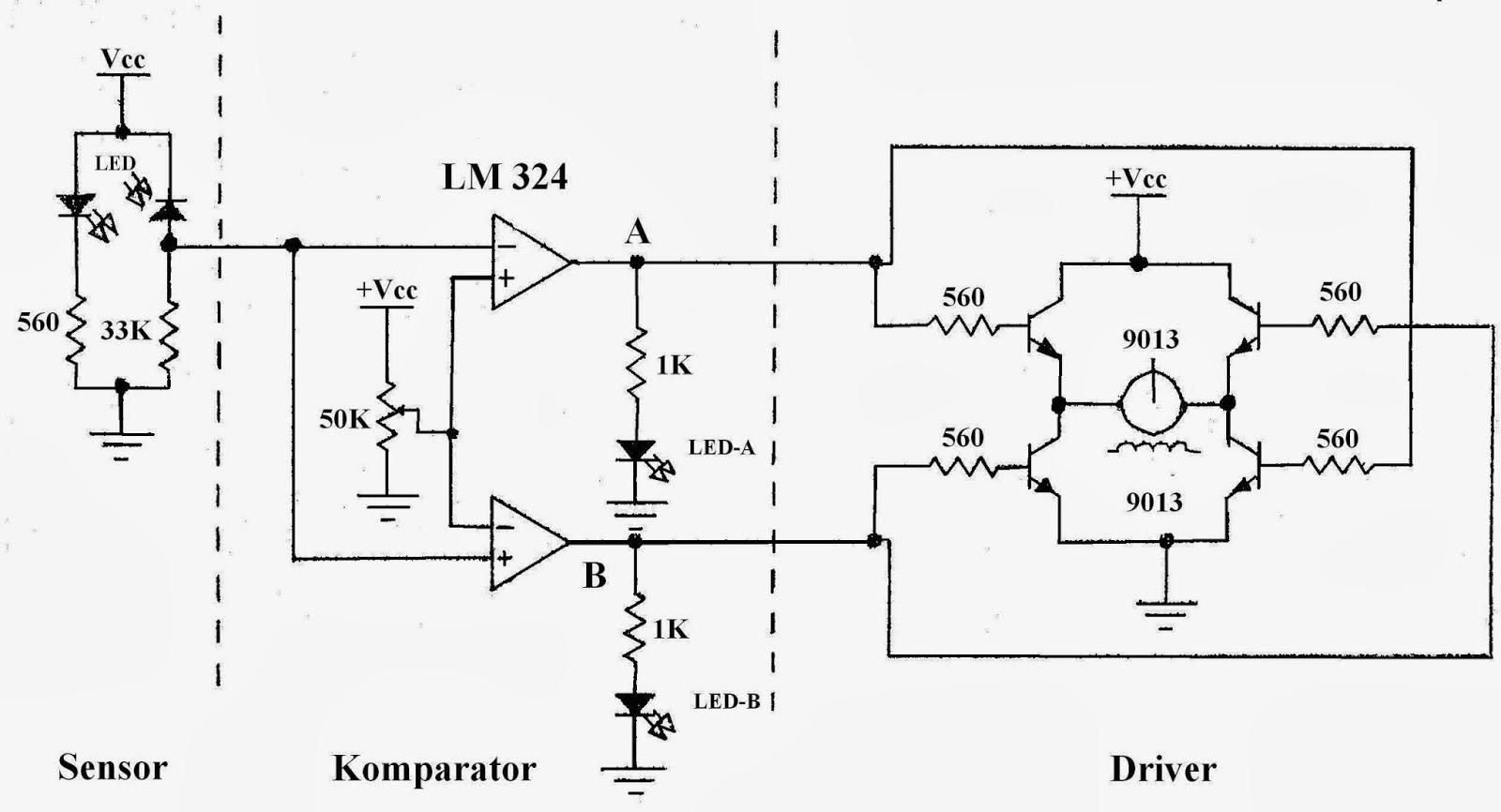 Dewareformasi Line Follower Sensor Cahaya Ldr Untuk Bagian Digunakan Photodioda Sebagai Atau Pu Sedangkan Komparatornya Menggunakan Ic Lm 324