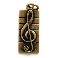 купить цена в украине кулон в виде скрипичного ключа бронза