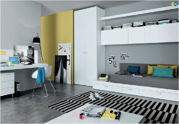 Cool modern teen girl bedrooms room design ideas for Jugendzimmer cool