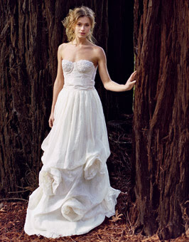 Fantastic wedding dresses designs with a colorful model for Nature inspired wedding dresses