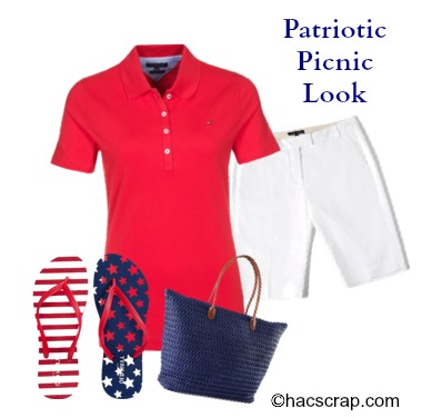 Red, White and Blue Casual Outfit Idea
