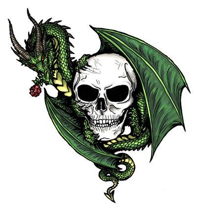 best tribal tattoo gallery dragon skull tattoo designtattoology. Black Bedroom Furniture Sets. Home Design Ideas