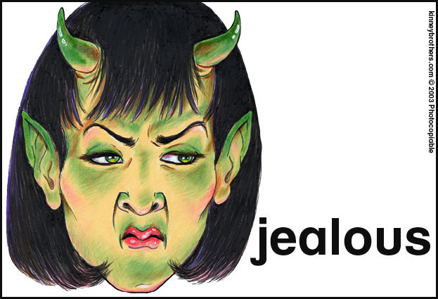 cartoon jealous face