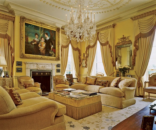 Gold living room