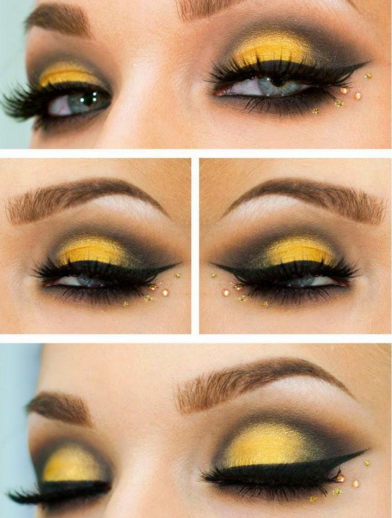 maquillaje inspiracion empañó amarillo