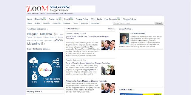 Zoom Magazine Herdiansyah Template Blogger