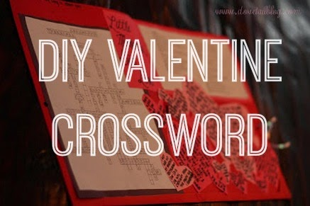 Handmade Valentines Gift {Customized Crossword}