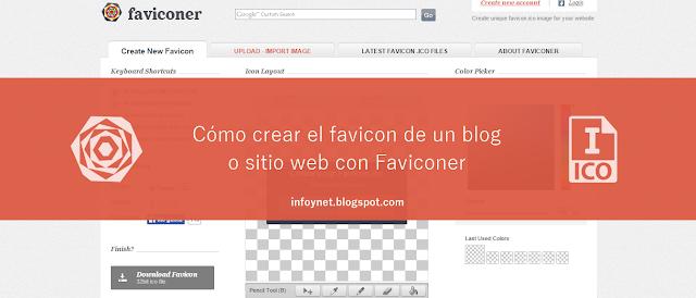 Cómo crear el favicon de un blog o sitio web con Faviconer
