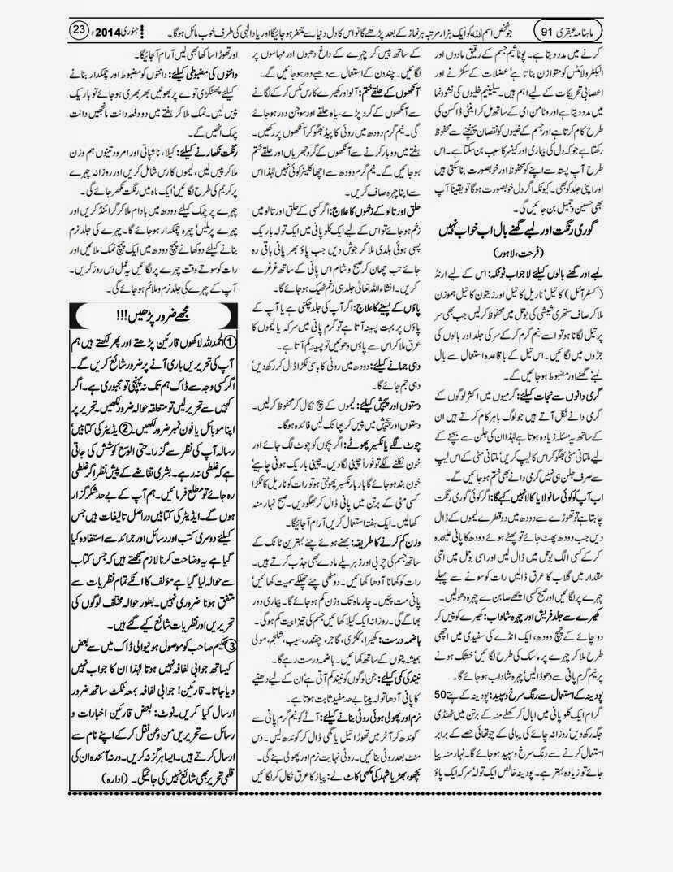 page 23 ubqari january 2014