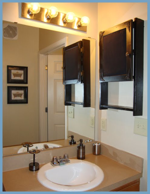 Sweet Southern Charm I Built Our Hanging Bathroom Cabinets