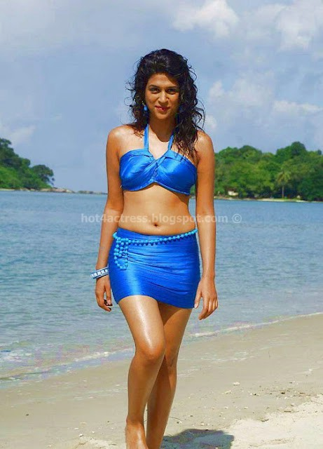 bollywood, tollywood, hot, Shraddha, Das, Hot, Navel, show, in, blue, dress, on, Beach, Hot, Pics