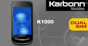 Dual SIM Touchscreen Mobile Karbonn K1000