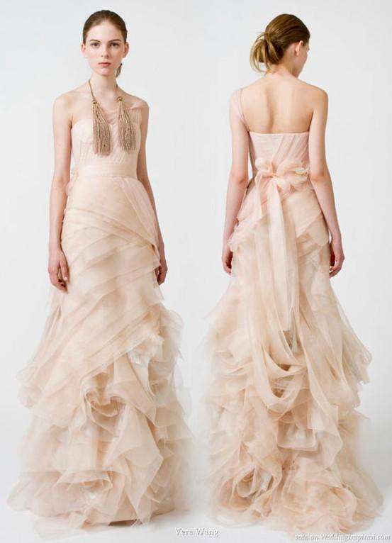 Adrian and jana wedding trends coloured wedding dresses for Pink vera wang wedding dresses